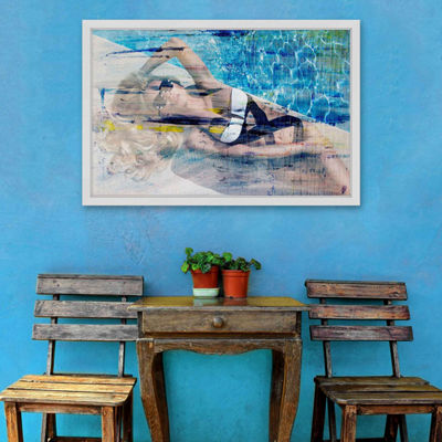 Hot Blonde Framed Painting Print