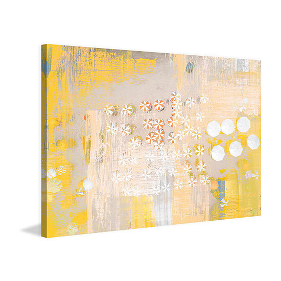 Candy Umbrellas Painting Print on Wrapped Canvas
