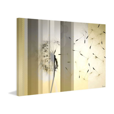 Dandelion Painting Print on Wrapped Canvas