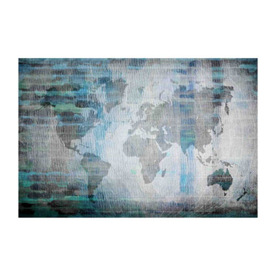 The World in Blue Painting Print on Wrapped Canvas