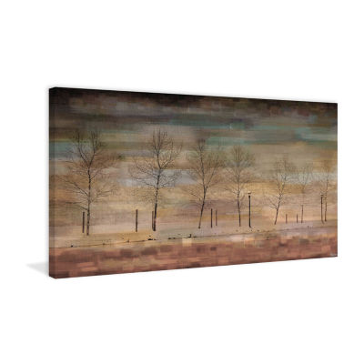 The Woods Painting Print on Wrapped Canvas