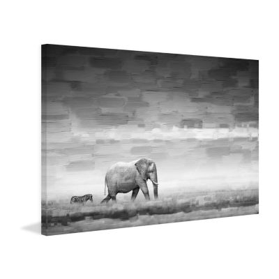 Elephant Painting Print on Wrapped Canvas