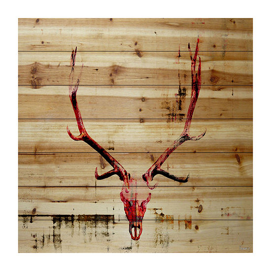 Hot Temper Painting Print on Natural Pine Wood