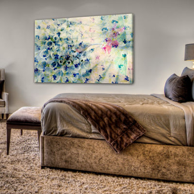 Humming Painting Print on Wrapped Canvas