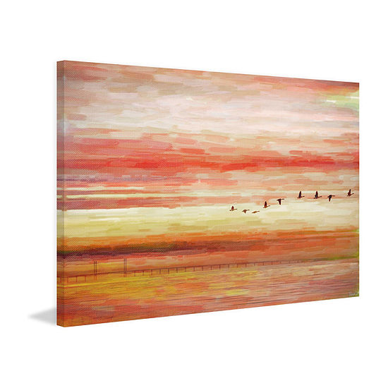 Flying South Painting Print on Wrapped Canvas