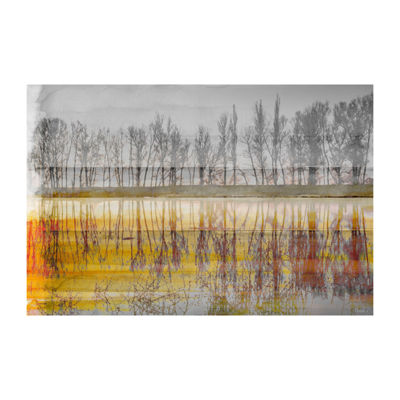 Sunset Lake Painting Print on Wrapped Canvas