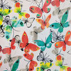 "Butterfly Print (50""X60"") Reversible Velvet Plush to Faux Fur Throw"