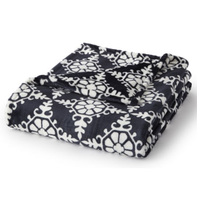 "Diamond Medallion Print (60""X70"") Velvet Plush Throw"
