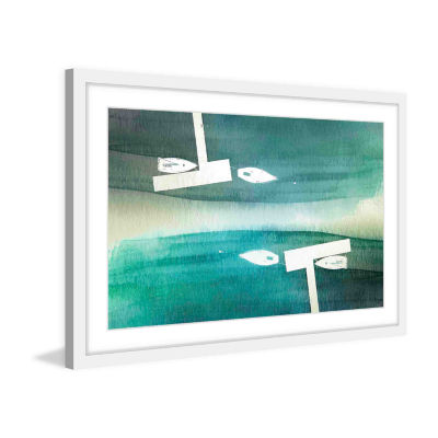 Fishing Boats Framed Painting Print