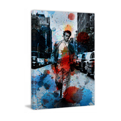 James Dean NYC Painting Print on Wrapped Canvas