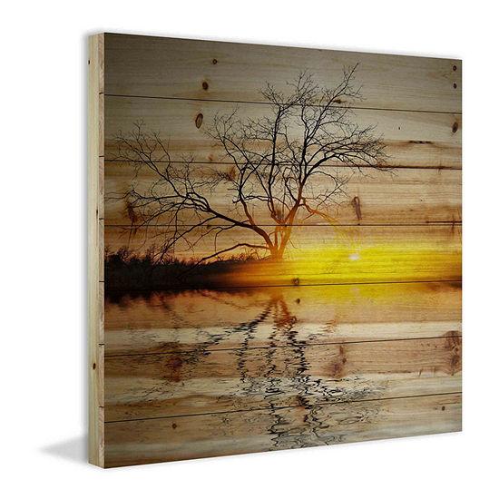 Killaloe Painting Print on Natural Pine Wood