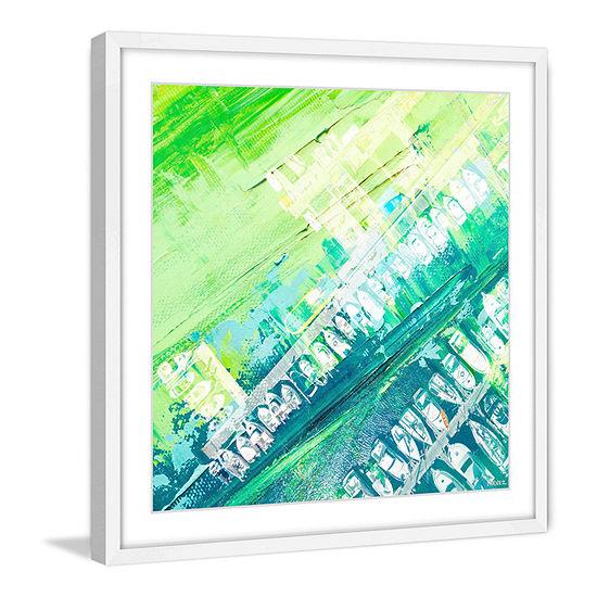Green Haze Framed Painting Print