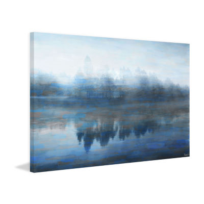 Lake Marmont Painting Print on Wrapped Canvas