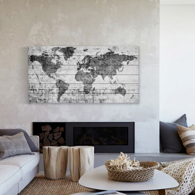 Lost in the World Painting Print on White Wood