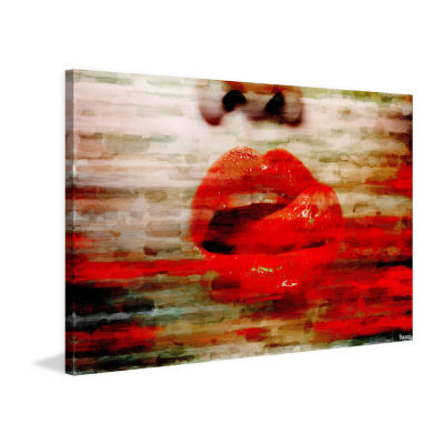 Lick My Lips Painting Print on Wrapped Canvas