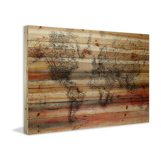 Maailma Painting Print on Natural Pine Wood
