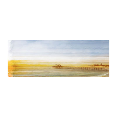 Malibu Pier Painting Print on Wrapped Canvas