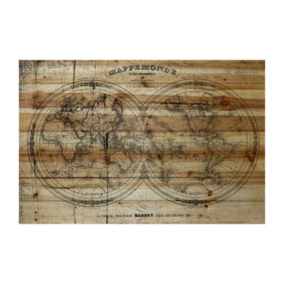 Mappe Painting Print on Natural Pine Wood
