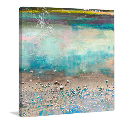 Sand Pebbles Painting Print on Wrapped Canvas