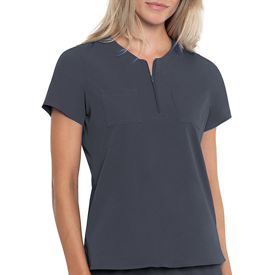 Med Couture Peaches 8407 Womens Henley Neck Scrub Top