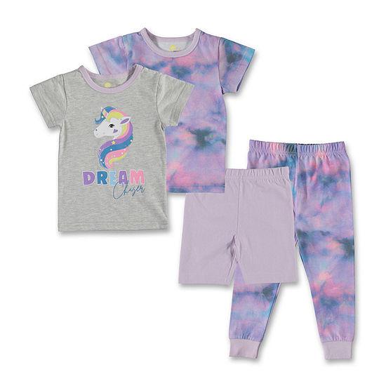 Unicorn Toddler Girls 4-pc. Pajama Set