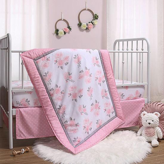 The Peanutshell 3-pc. Floral Crib Bedding Set