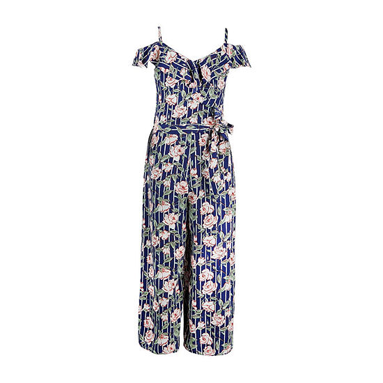 by&by Big Girls Short Sleeve Jumpsuit