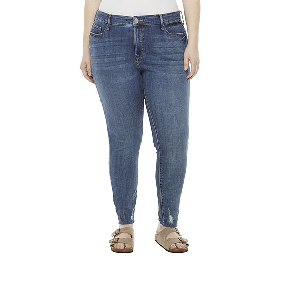 a.n.a - Plus Womens High Rise Skinny Fit Jean