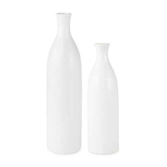 Loom + Forge Matte White Vase Collection