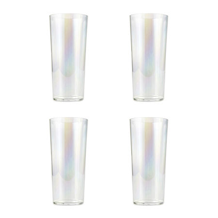 Outdoor Oasis 4-pc. Iridescent Highball Glasses, One Size , Iridescent