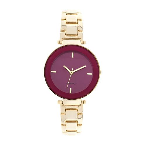 Womens Gold-Tone Fashion Watch