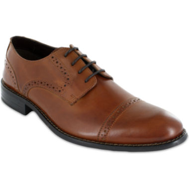 Stacy Adams® Prescott Mens Cap Toe Leather Lace Oxfords