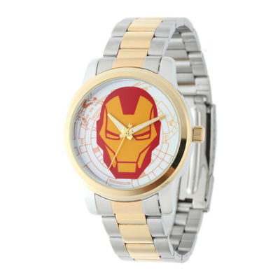 Marvel® Iron Man Mens Two-Tone Stainless Steel Watch