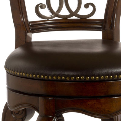 Carnegie Swivel Barstool with Back