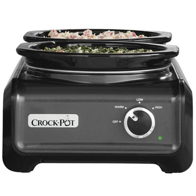 Crock-Pot® Hook Up® Connectable Entertaining System, Two 1-qt. Slow Cookers