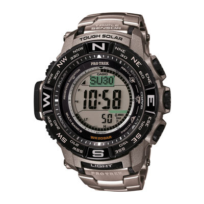 Casio® Mens Pro Trek Tough Solar Digital Sport Watch