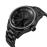 Jbw Mens Black Ion Diamond Accent Bracelet Watch
