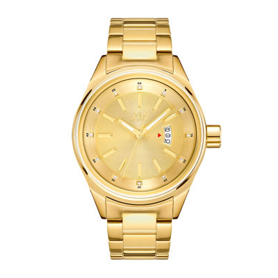 JBW Mens Gold Tone Diamond Accent Bracelet Watch