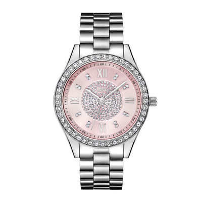 JBW Womens Silver Tone Stainless Steel Bracelet Watch-J6303f