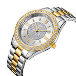 Jbw Womens Two Tone And Silver Tone Diamond Accent Bracelet Watch
