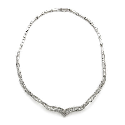 LIMITED QUANTITIES 3 CT. T.W. Diamond 14K White Gold Necklace