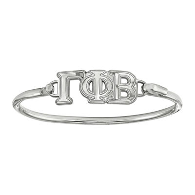 Personalized Sterling Silver Sorority Bangle Bracelet