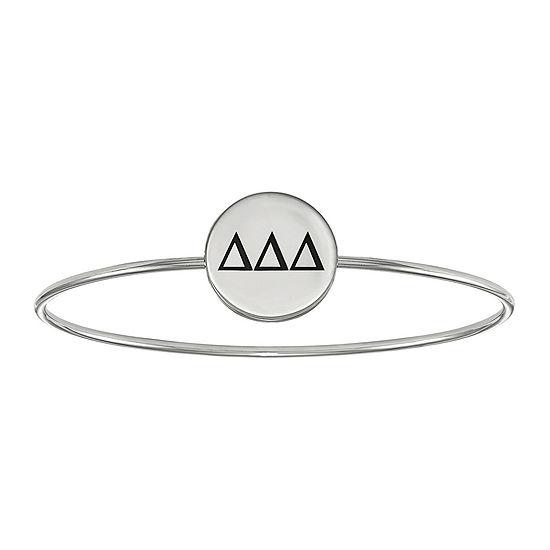 Personalized Sterling Silver Enamel Sorority Slip-On Bangle Bracelet