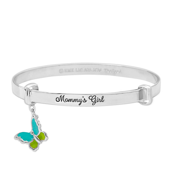 Hallmark Kids Sterling Silver Enamel Butterfly Bangle Bracelet