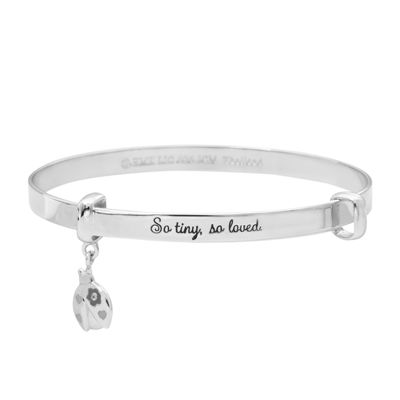 Hallmark Kids Sterling Silver Enamel Ladybug Bangle Bracelet