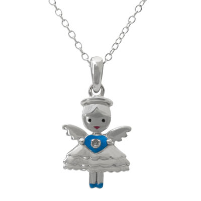 Hallmark Kids Diamond-Accent Sterling Silver Angel Pendant Necklace