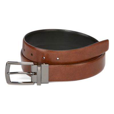 Stafford® Silver Sideburns Reversible Belt