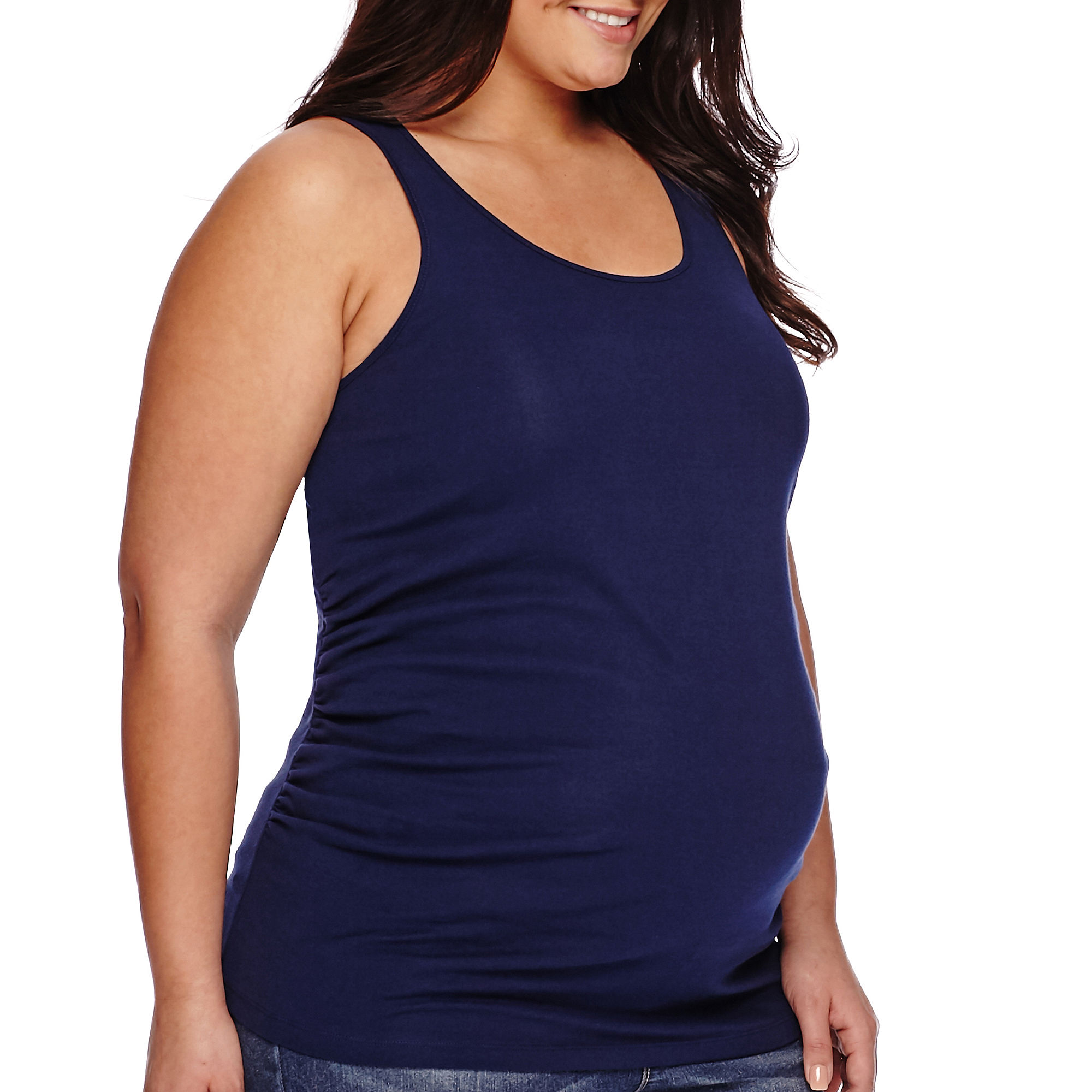 a.n.a Maternity Racerback Tank Top - Plus plus size,  plus size fashion plus size appare