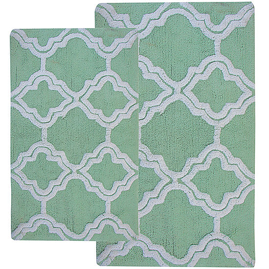 Chesapeake Merchandising Double Quatrefoil 2 Pc Bath Rug Set