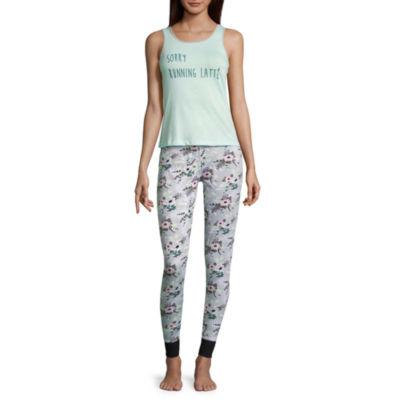 Wallflower 2-pc. Floral Pant Pajama Set-Juniors